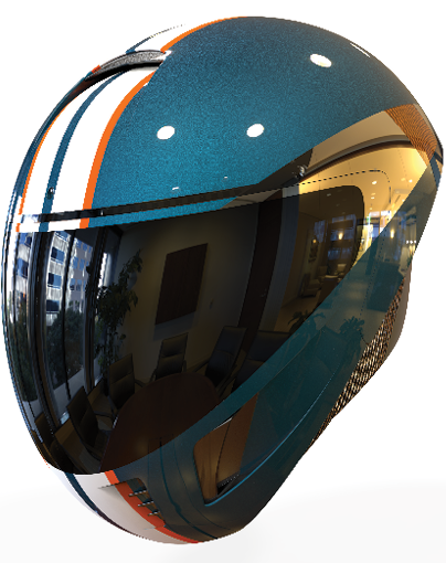 Encephalon hi-tech motorcycle helmet