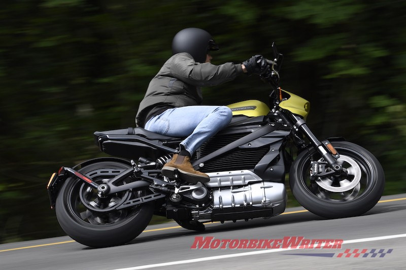 Harley-Davidsoxn LiveWire electric motorcycle year one day