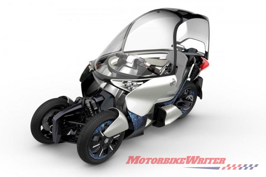 Yamaha has filed yet another patent for yet another leaning trike, this time with a hybrid powertrain. lean