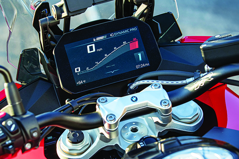 2020 BMW S 1000 XR Review Dash