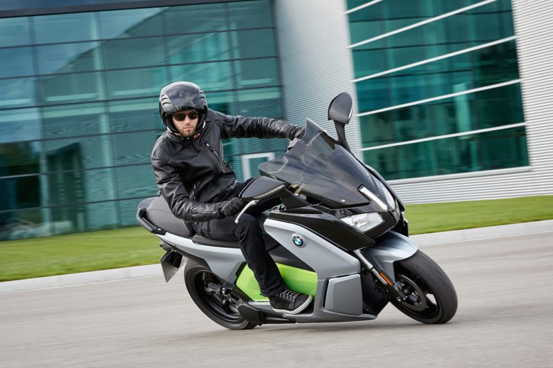 BMW C evolution electric scooter emissions