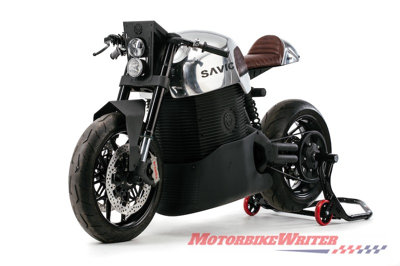 2019 Savic electric motorcycle prototype orders giants
