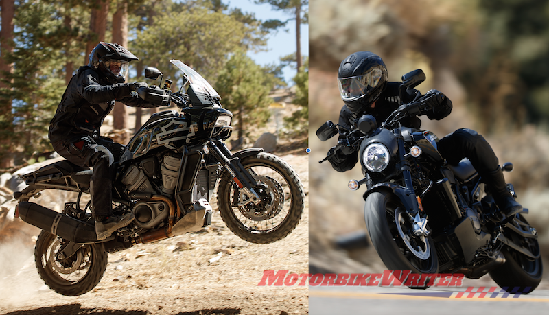 Harley Revolution Max platform includes Pan America and Bronx Streetfighter axe