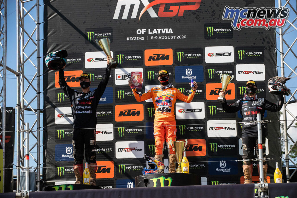 Tom Vialle took the round overall - 2020 MXGP of Latvia