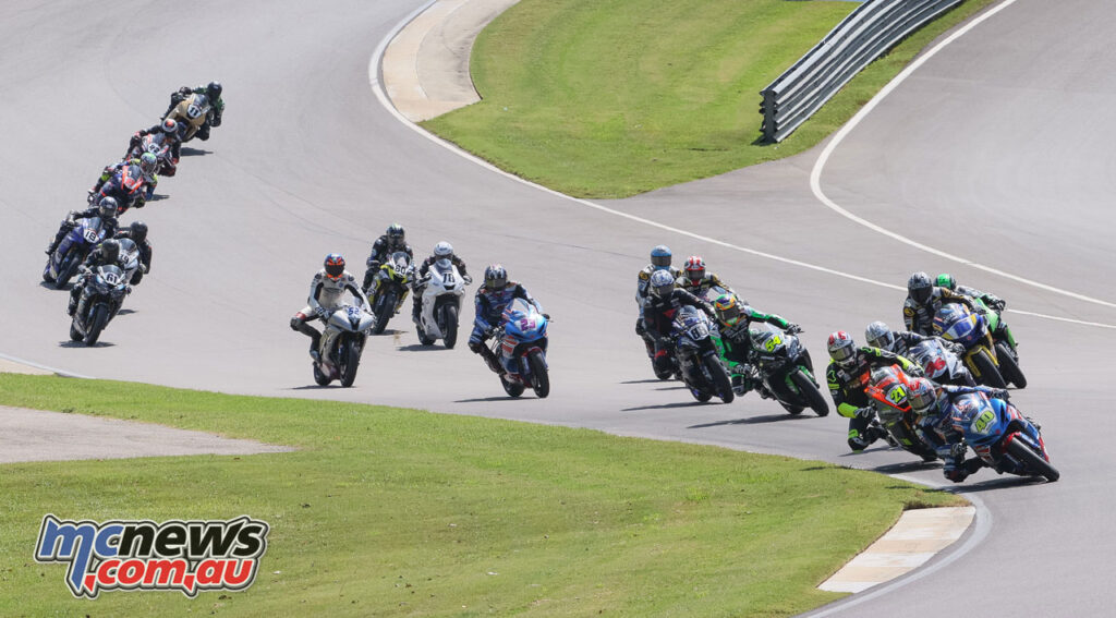 The Supersport field on Sunday