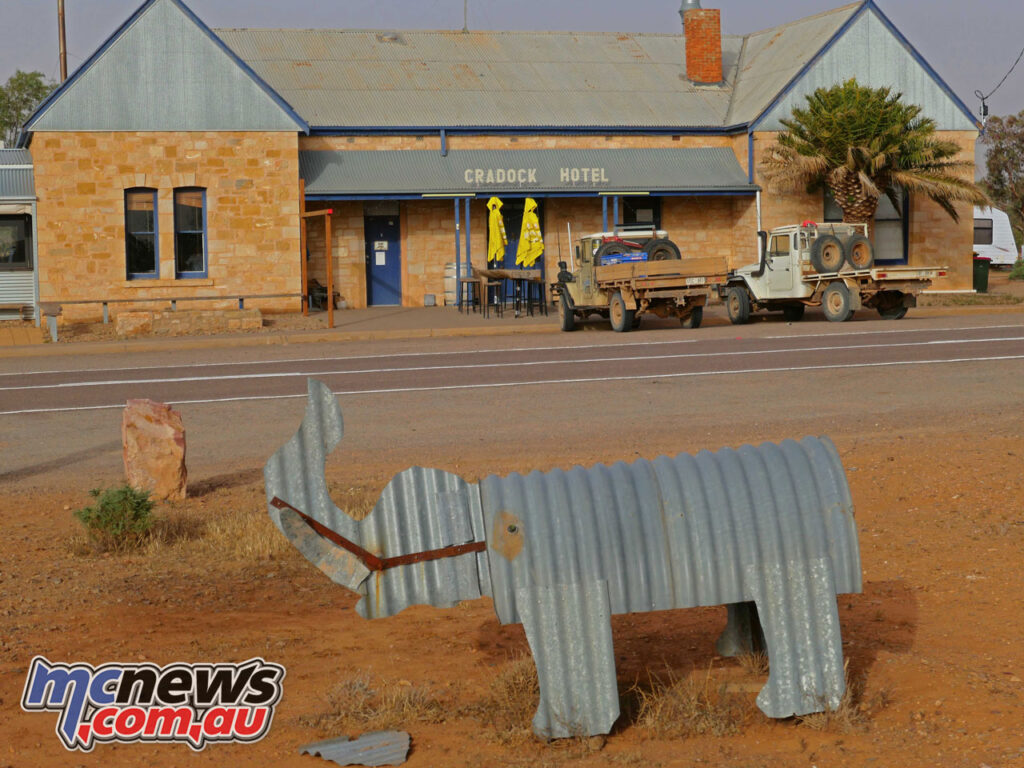 Animal life in Cradock consists mainly of corrugated iron cut-outs.