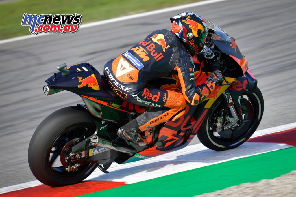"""Heading the third row of the grid is Pol Espargaro in seventh. This is KTM's best MotoGP qualifying at the Circuit de<br /> Barcelona-Catalunya."""" width=""""1024″ height=""""683″ srcset=""""https://www.motorcyclenews.net/wp-content/uploads/2020/09/yamaha-dominate-catalunya-motogp-qualifying-11.jpg 1024w, https://www.motorcyclenews.net/wp-content/uploads/2020/09/yamaha-dominate-catalunya-motogp-qualifying-106.jpg 300w, https://www.motorcyclenews.net/wp-content/uploads/2020/09/yamaha-dominate-catalunya-motogp-qualifying-107.jpg 160w, https://www.motorcyclenews.net/wp-content/uploads/2020/09/yamaha-dominate-catalunya-motogp-qualifying-108.jpg 768w, https://www.motorcyclenews.net/wp-content/uploads/2020/09/yamaha-dominate-catalunya-motogp-qualifying-109.jpg 1536w, https://www.motorcyclenews.net/wp-content/uploads/2020/09/yamaha-dominate-catalunya-motogp-qualifying-110.jpg 750w, https://www.motorcyclenews.net/wp-content/uploads/2020/09/yamaha-dominate-catalunya-motogp-qualifying-111.jpg 1140w, https://www.motorcyclenews.net/wp-content/uploads/2020/09/yamaha-dominate-catalunya-motogp-qualifying-112.jpg 1920w"""" sizes=""""(max-width: 1024px) 100vw, 1024px""""></a><figcaption id="""