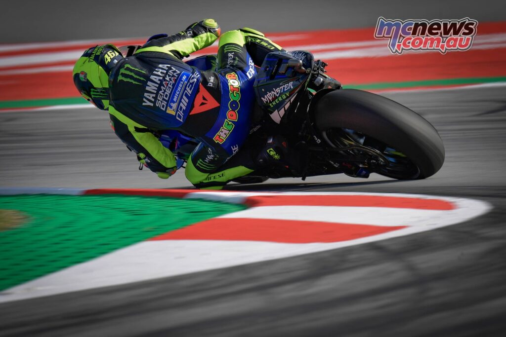 Valentino Rossi, who is the most successful rider at Catalunya in GP racing with 10 wins (seven in the premier class), has qualified third, which is his first front row start since he was second on the grid in Silverstone last year. Rossi is scheduled to start his 350th premier class race on Sunday. The last time Valentino Rossi started from the front row in MotoGP in Catalunya was in 2009, when he was the second fastest qualifier on his way to win the race.