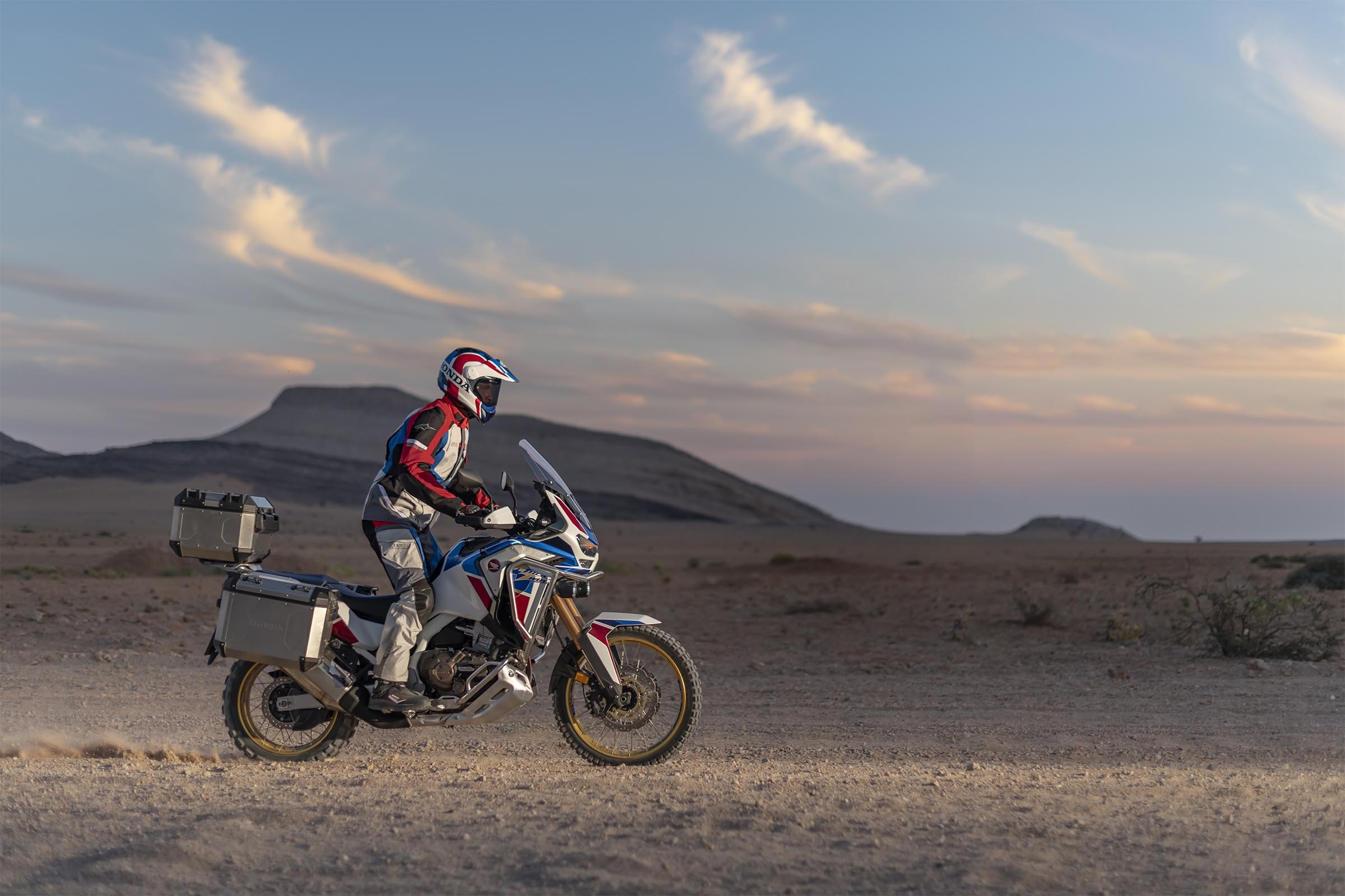 2020 Honda Africa Twin Riding In The Desert
