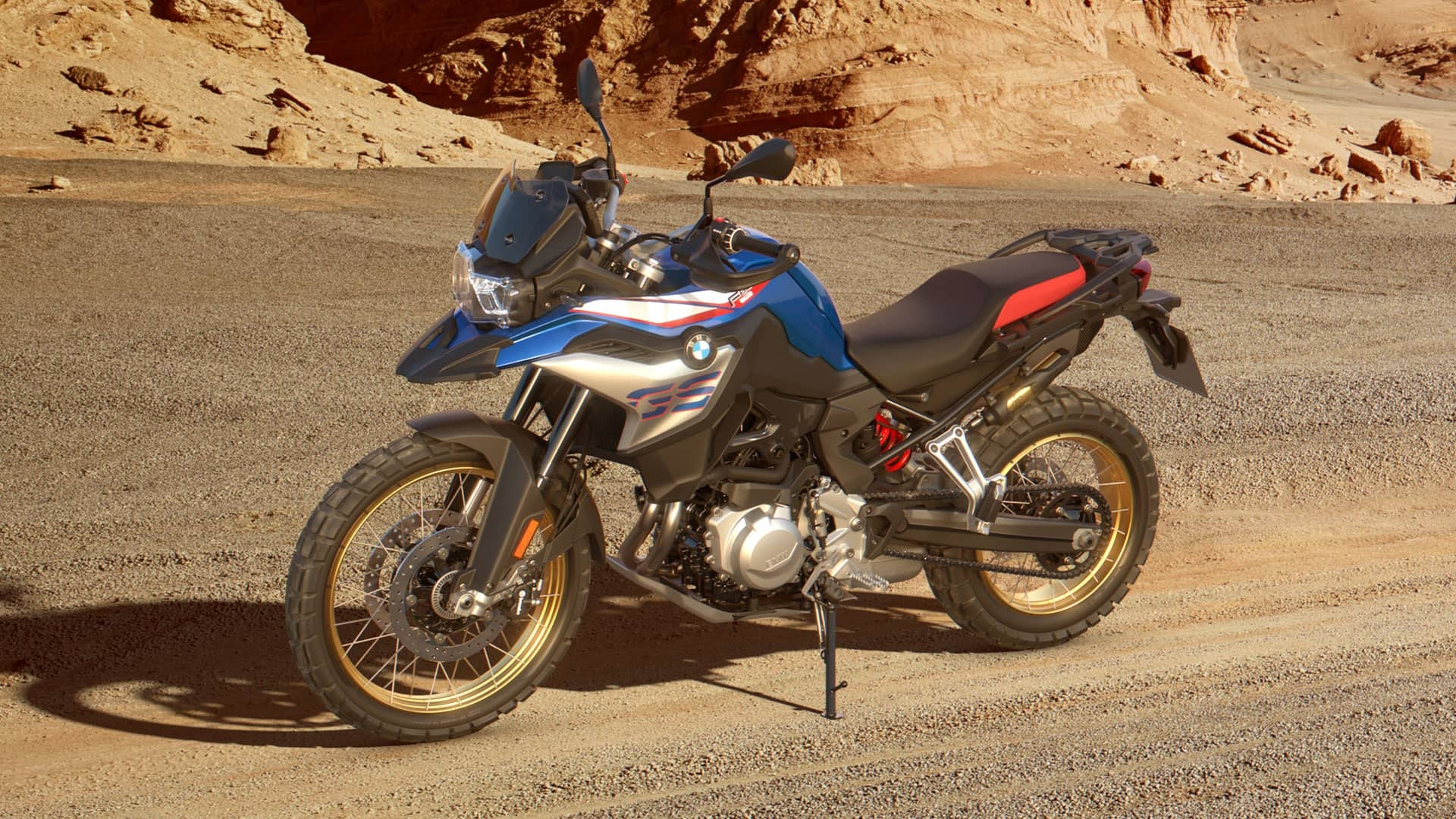 2021 BMW F 850 GS Parked On A Desert Trail
