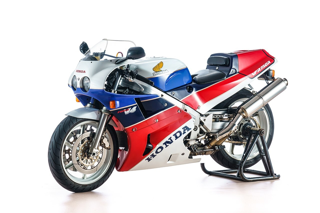 1988 Honda VFR750R RC30 Side View On Wheel Stand