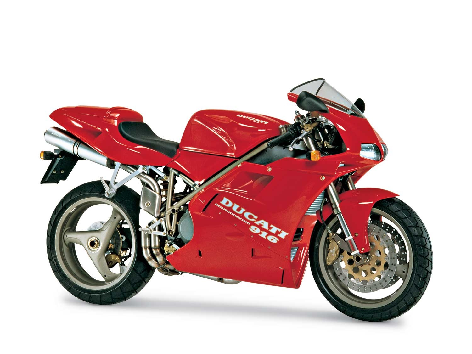 Red 1994 Ducati 916 Side View