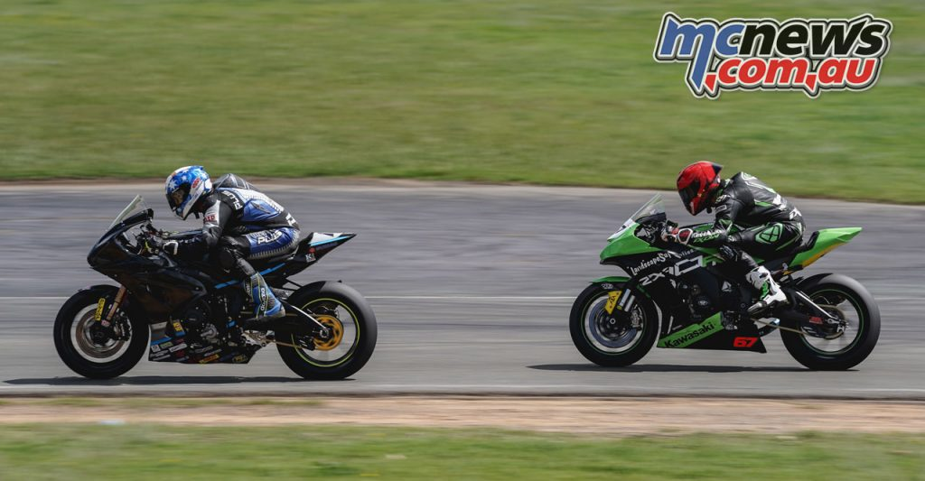 ASBK Wakefield Park Test TDJ Jed Metcher and Bryan Staring