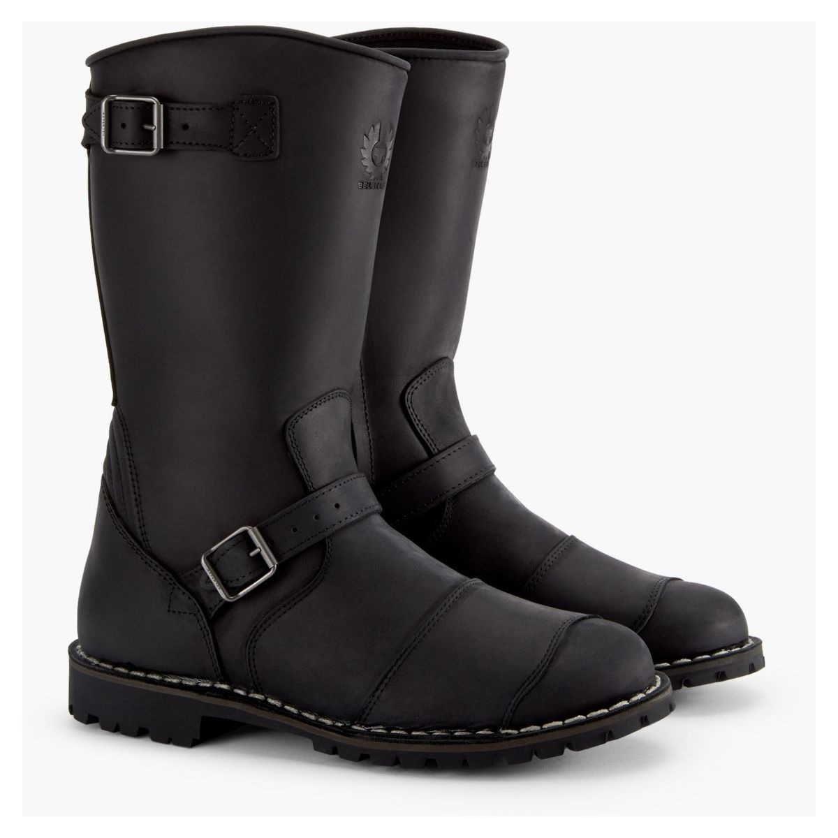 Belstaff Endurance Boots In Black Side View