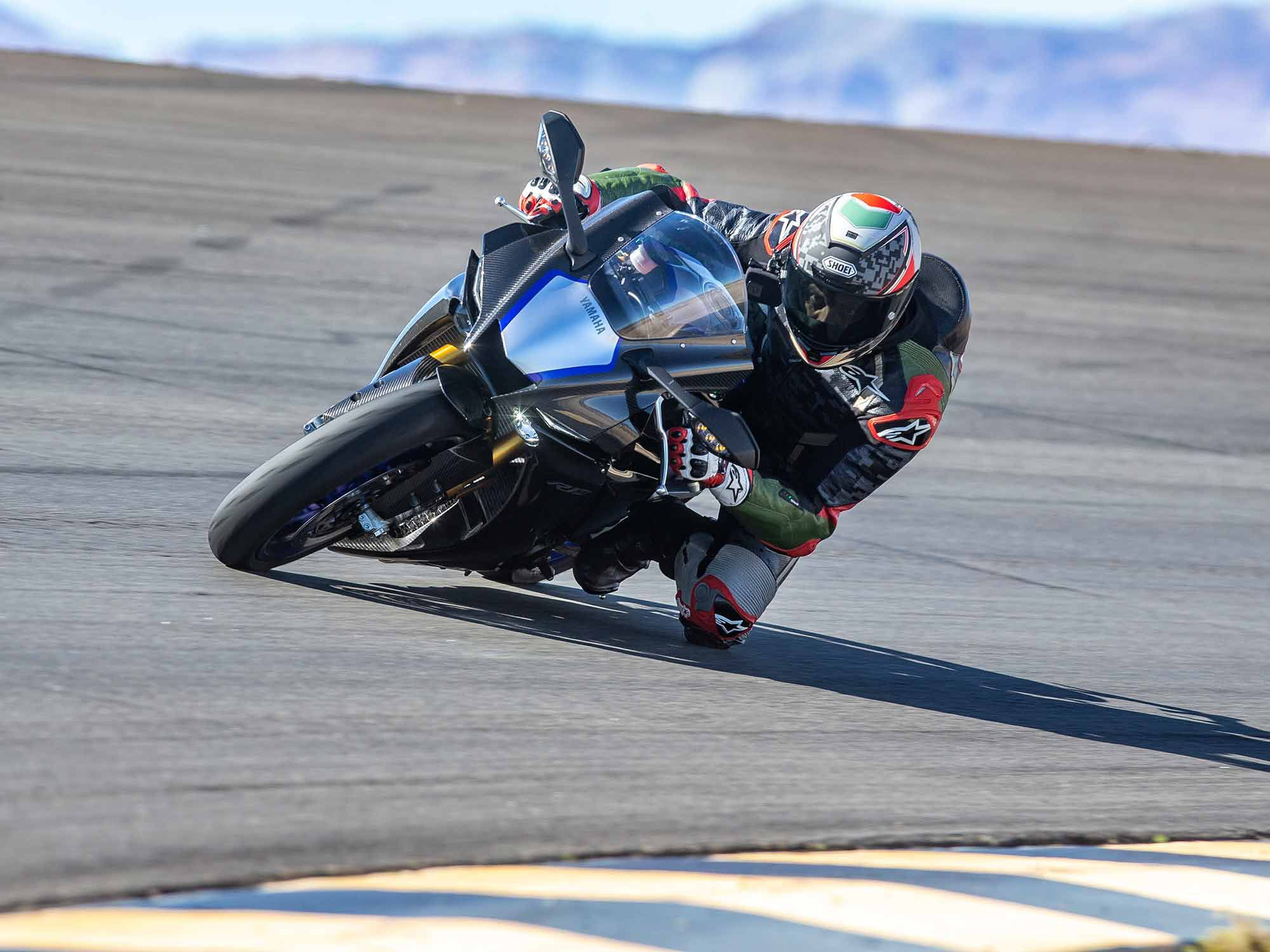 Yamaha's YZF-R1M is a hoot to ride, especially at the racetrack where its advanced rider aids and 165-horsepower I4 engine make for the ultimate play date.