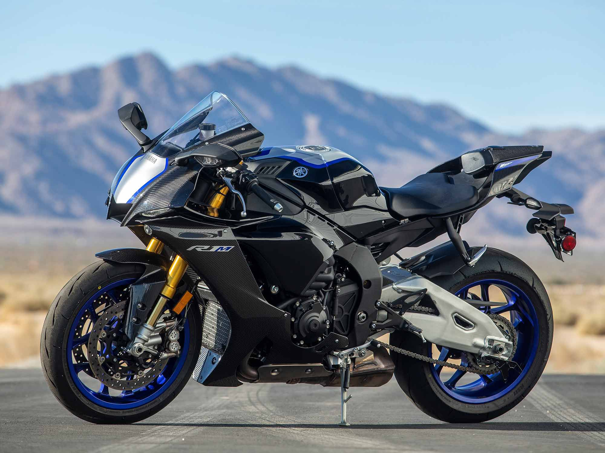 Yamaha's 2021 YZF-R1M ($26,099) continues to be pure excellence. We love the function and versatility of its Ohlins semi-active suspension.