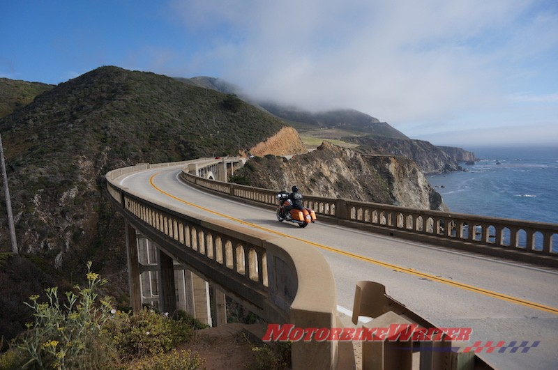 Big Sur Harley-Davidson touring USA America california rules dead-end route