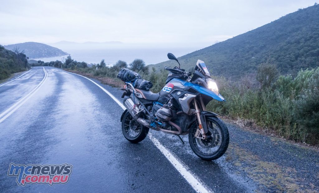 The R 1200 GS Rallye X pictured on the road back out of Wilsons Promontory - 2017