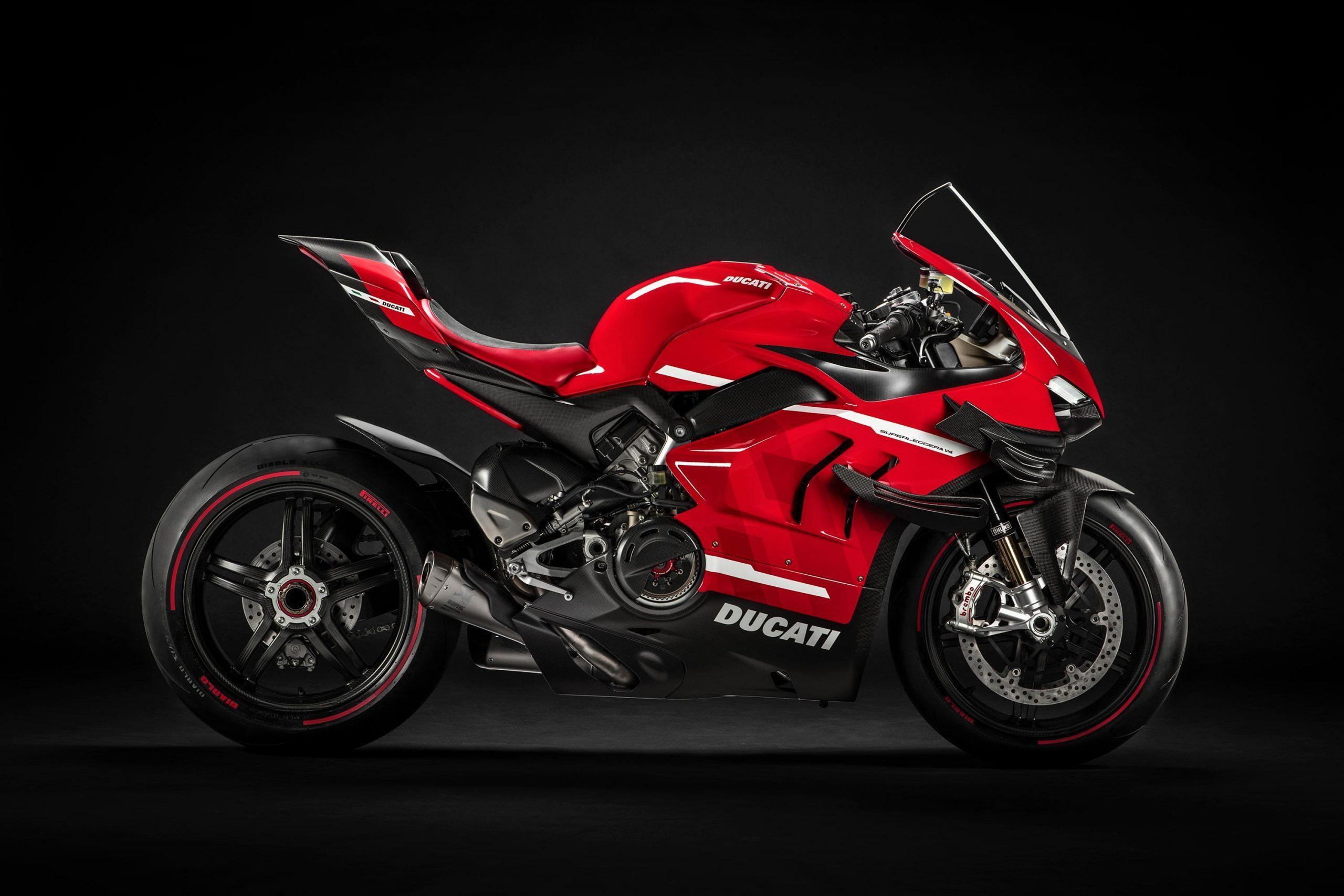 Ducati v4 superleggera studio shot