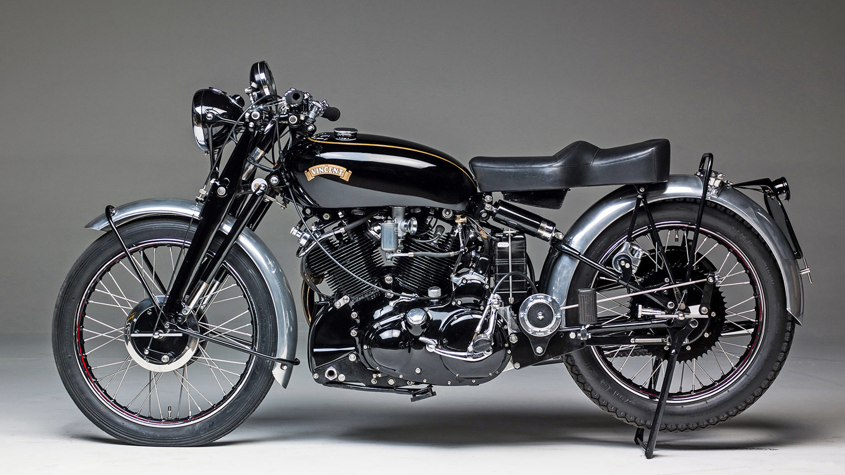 1949 Vincent Black Shadow Side View