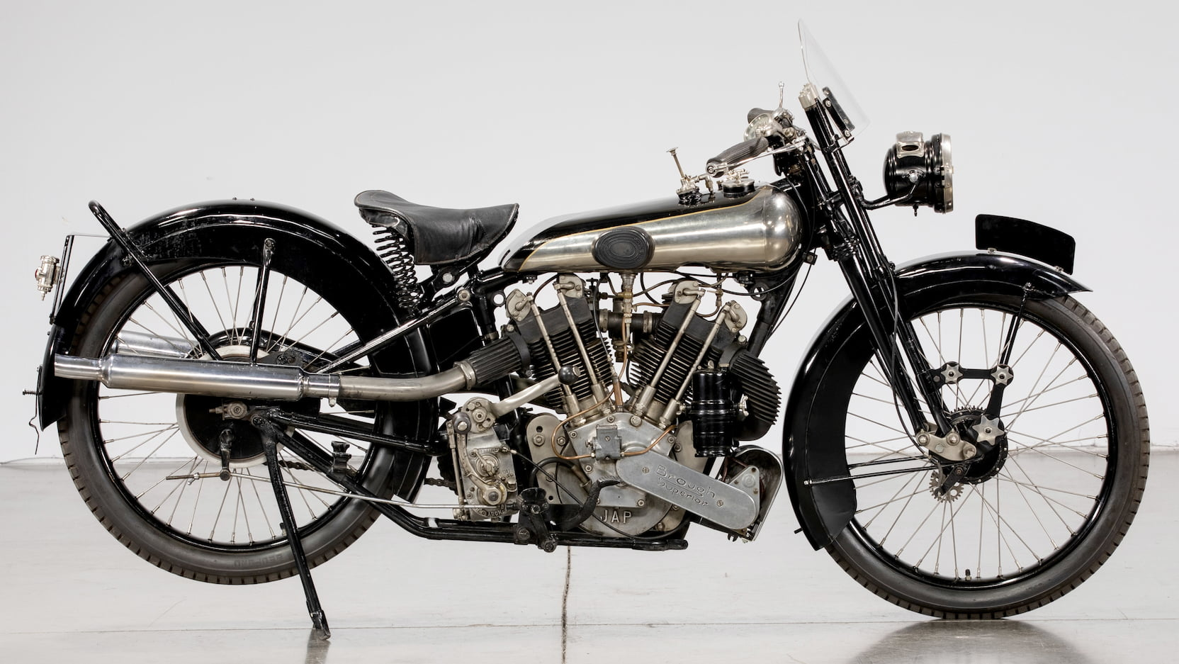 1925 Brough Superior Alpine Grand Sport Side View