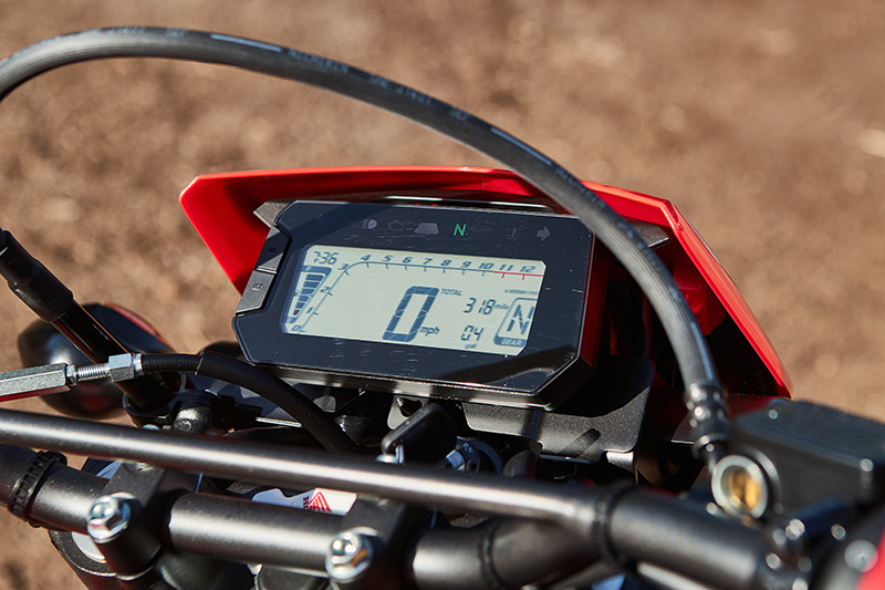 2021 Honda CRF300L Rally review instrument panel