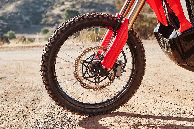 2021 Honda CRF300L Rally review wheel brake