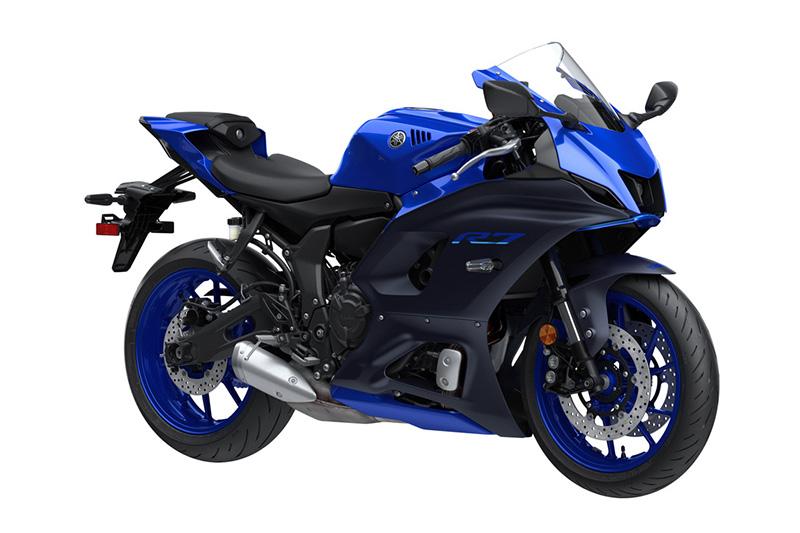 2022 Yamaha YZF-R7 review team yamaha blue