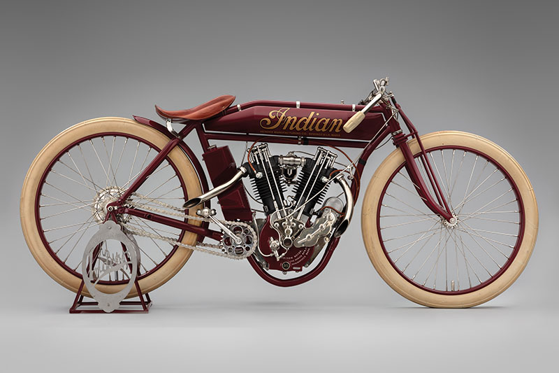 SFO Museum Early American Motorcycles 1912 Indian 8-Valve Racer