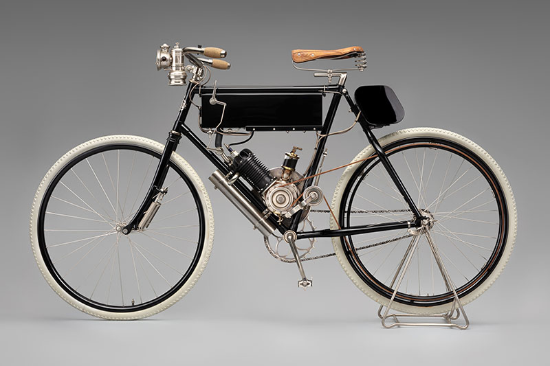 SFO Museum Early American Motorcycles 1902 California Motor Bicycle