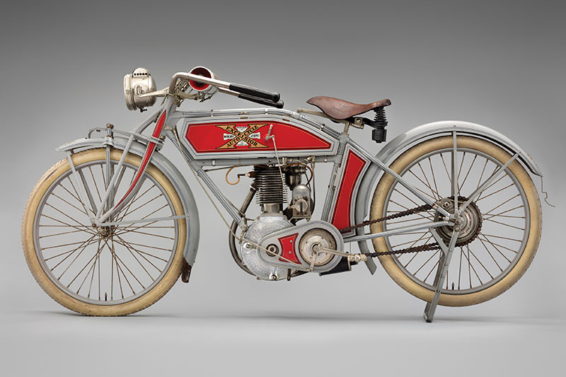 SFO Museum Early American Motorcycles 1912 Excelsior Auto-Cycle Model 4B