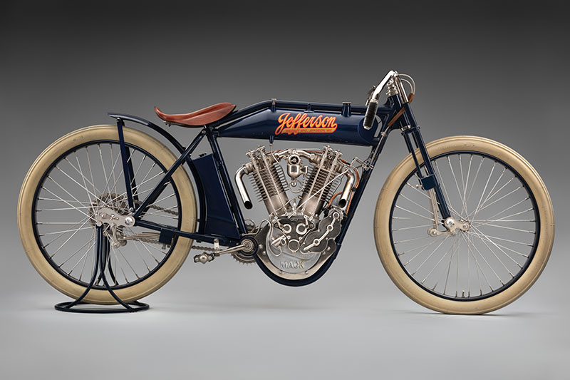 SFO Museum Early American Motorcycles 1914 Jefferson Twin-Cylinder Racer