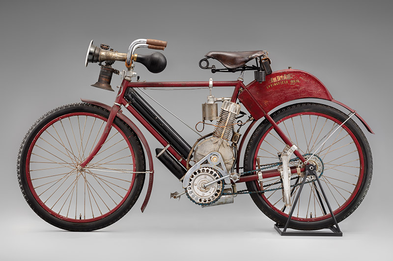 SFO Museum Early American Motorcycles 1903 Indian Motocycle