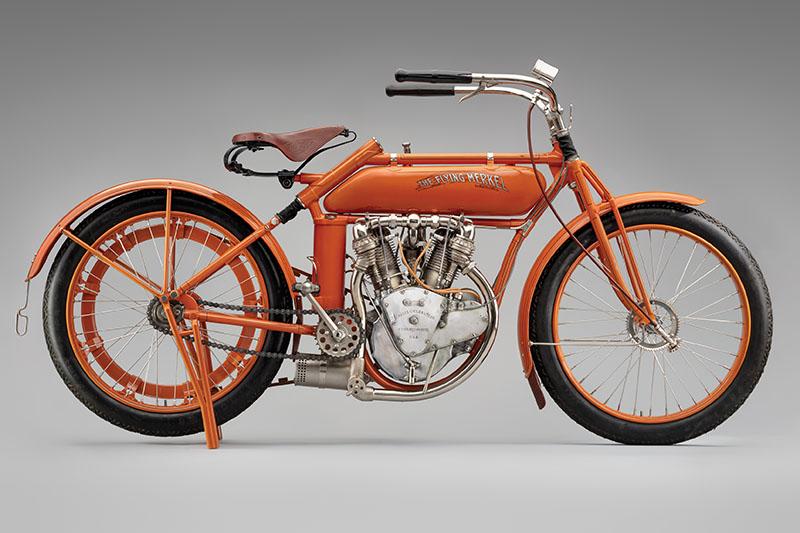 SFO Museum Early American Motorcycles 1914 The Flying Merkel Model 470