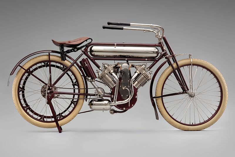 SFO Museum Early American Motorcycles 1912 Marsh-Metz Magneto Twin