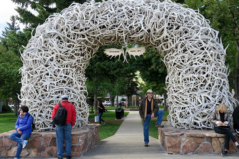 Favorite Ride Rockies to Mount Rushmore Jackson Wyoming elk horn arch