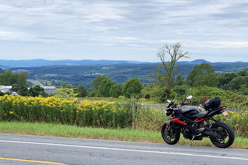 Upstate New York motorcycle tour