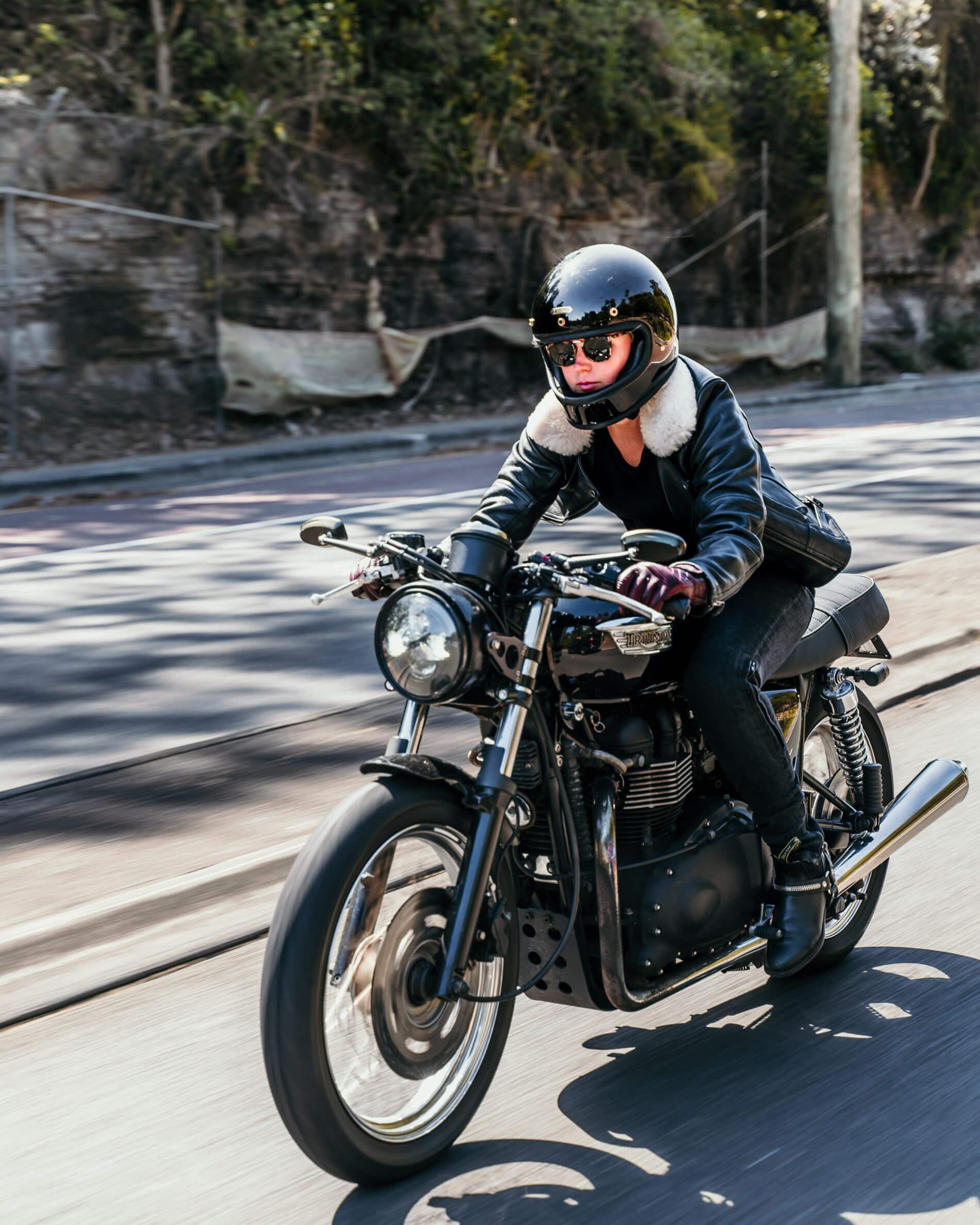 blackbird moto wear fly by night jacket on the road