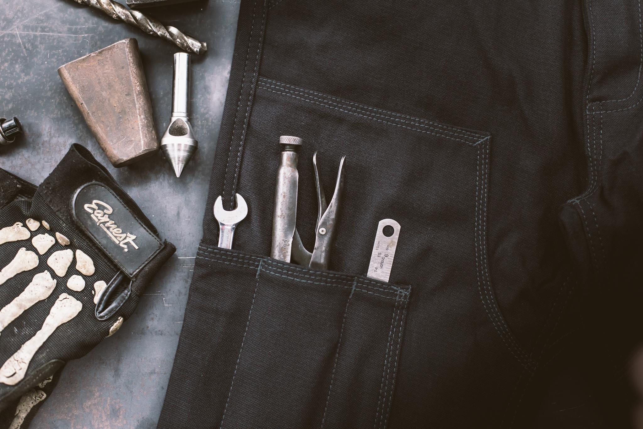 Earnest Co. Tasker Moto Pants detail