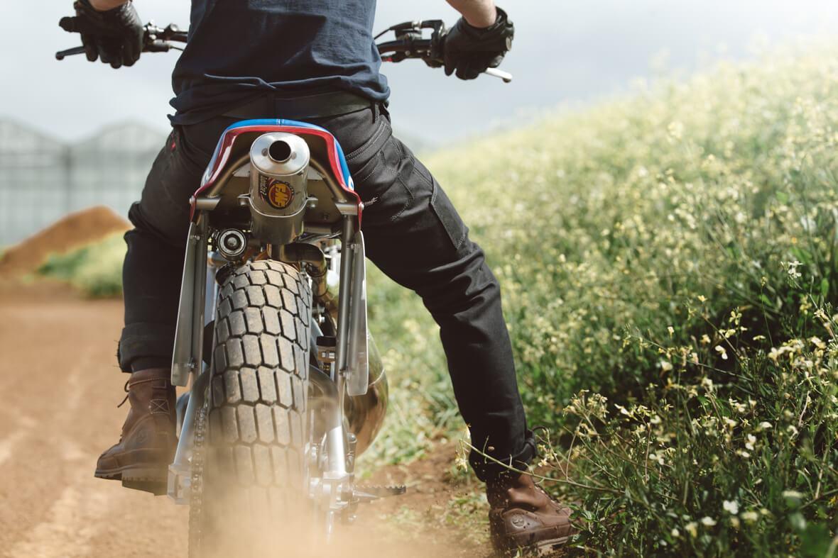Earnest Co. Tasker Moto Pants action shot