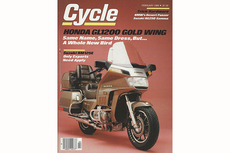 Cycle magazine 1984 cover Honda Gold Wing GL1200