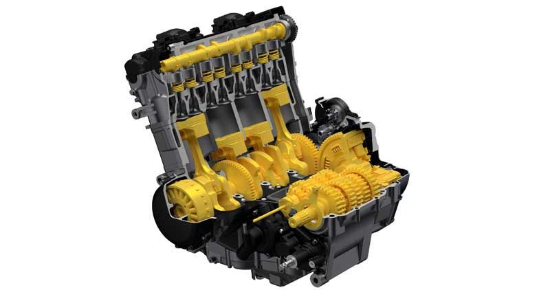 2022 Suzuki Hayabusa review engine cutaway