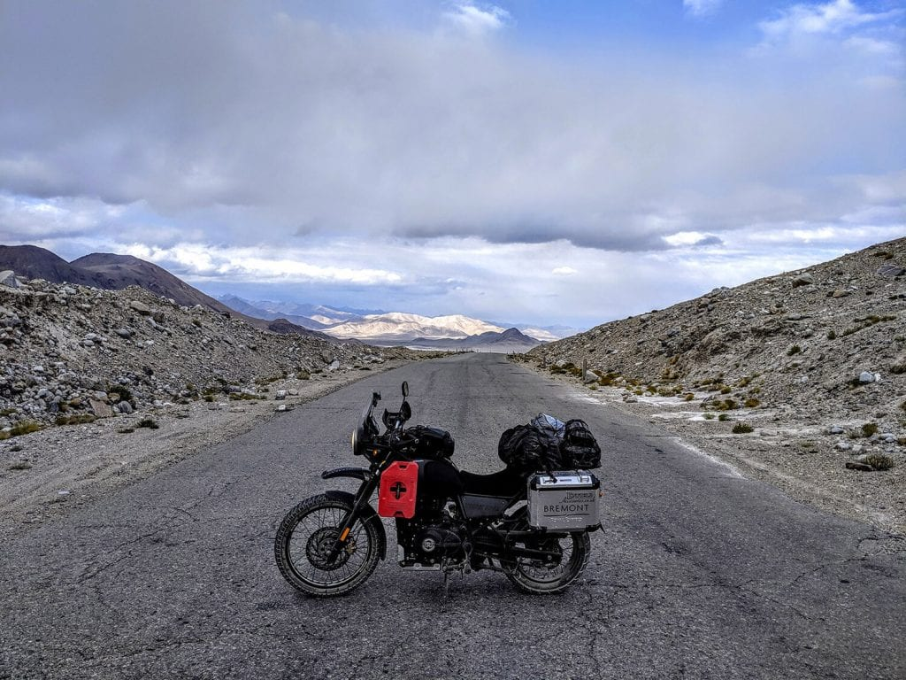 Jack Groves and his royal enfield Himalayan, youngest British to ride around the world