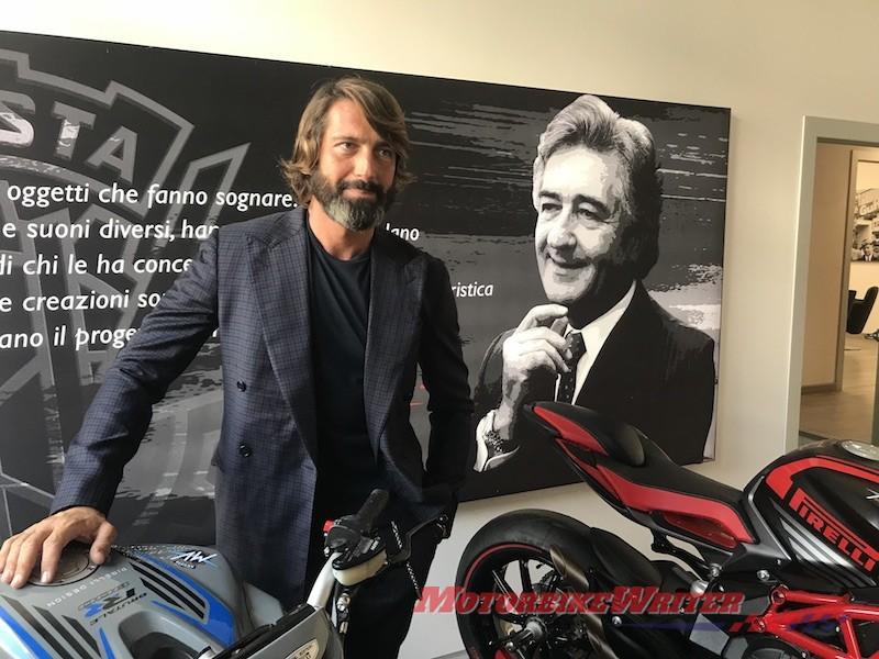 MV Agusta boss Giovanni Castiglioni classic cagiva 1000cc