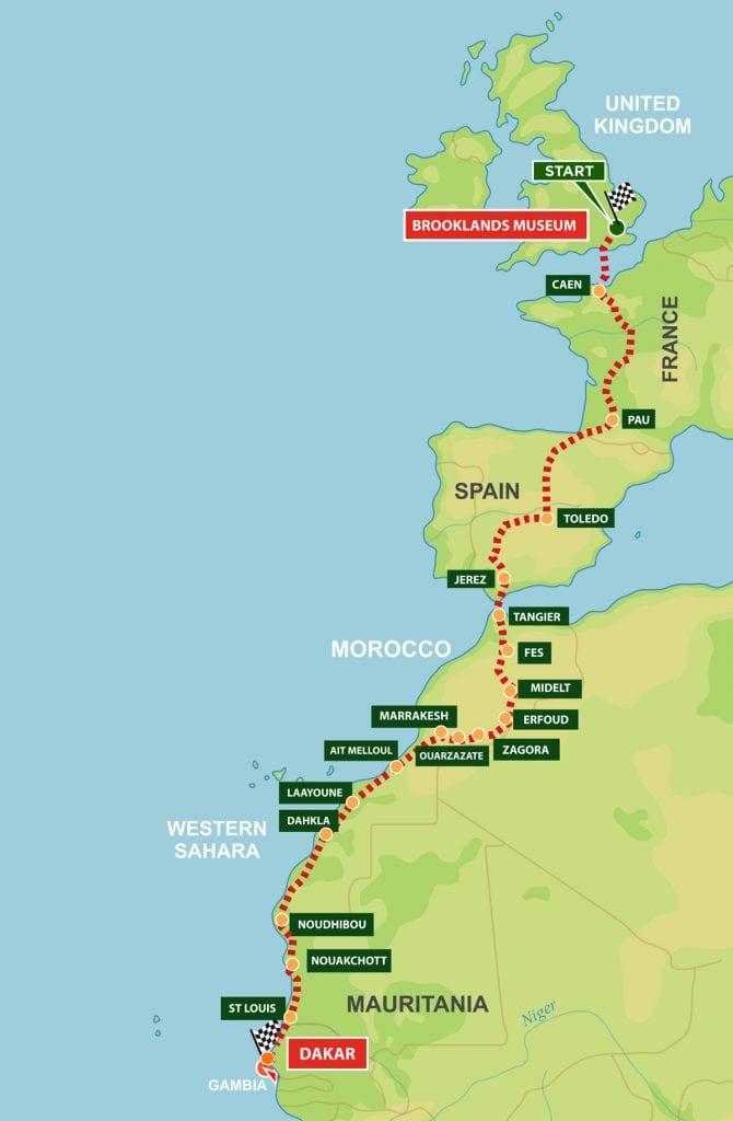 Dakar Rally Motorcycle Map for 2022