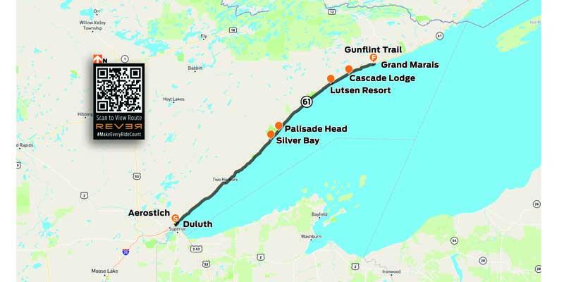 Rider Minnesota North Shore REVER map