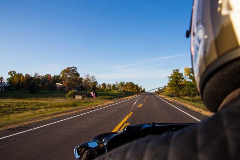 Rider Minnesota North Shore Highway 61