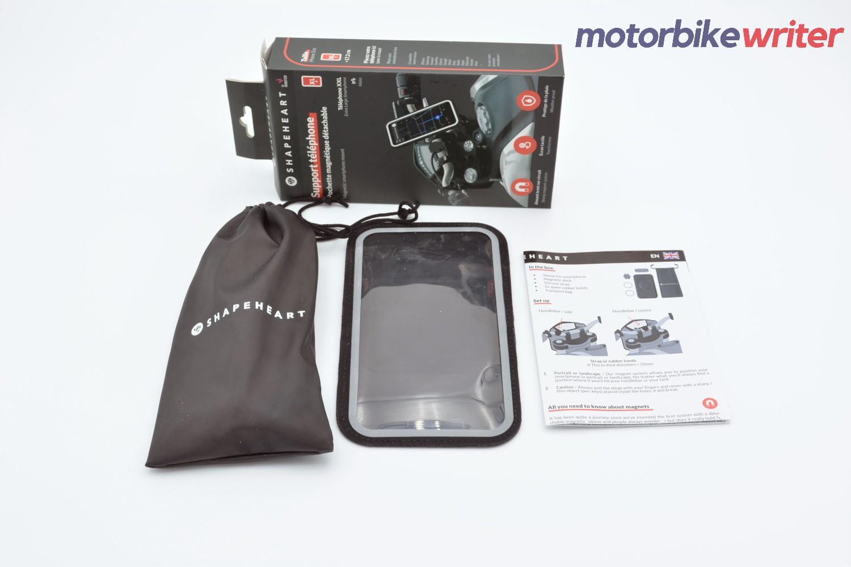 Inside the Shapeheart Classic Handlebar Phone Mounting System Box