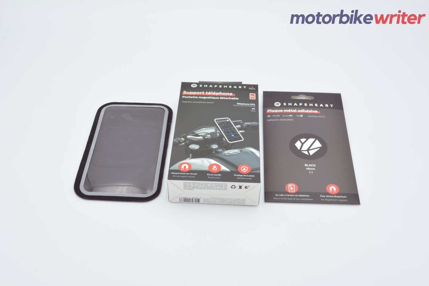 Shapeheart Classic Handlebar Phone Mounting System Box and Contents