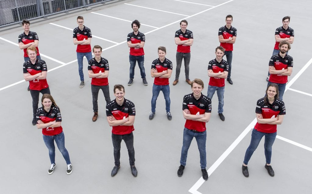 a group of university students that make up Electric Superbike Twente: A racing team dedicated to bringing energy efficiency to the track.